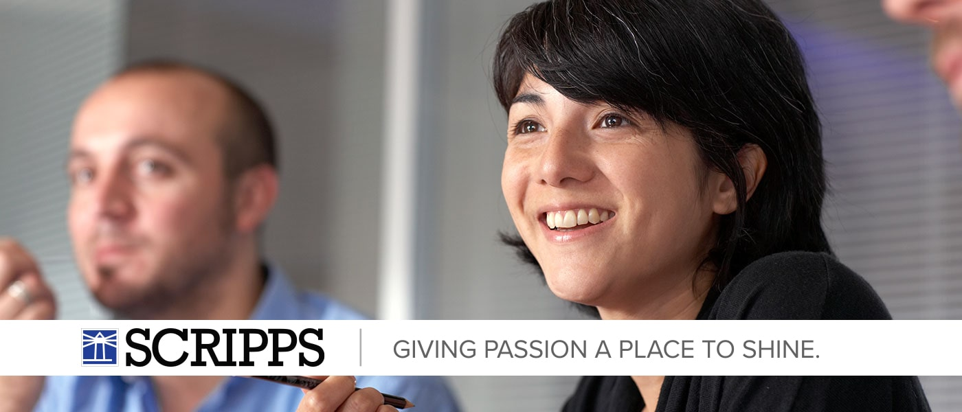 "Sample Campaign Banner. It reads ""Scripps. Giving passion a place to shine."""